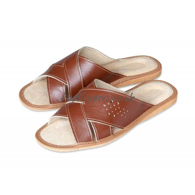 Open Toe Criss Cross Leather House Sandals Mules For Men. Open Toe House Slippers   Home Design   Health support us
