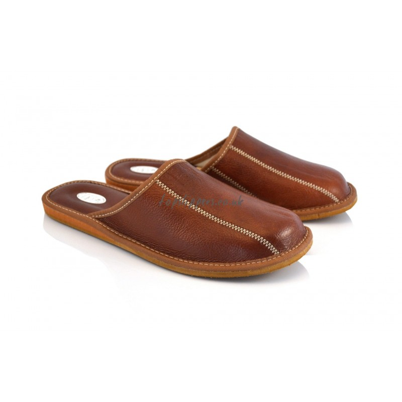 Men' Leather House Slippers Related Keywords - Men ...
