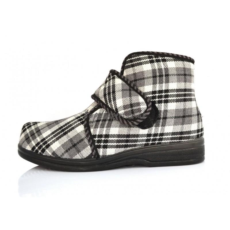 Buy Men S Tartan Plaid Sheepskin And Felt Slippers Boots