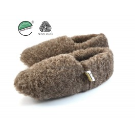 large discount cute pick up unisex men's ladies merino sheep's wool slipper boots - brown