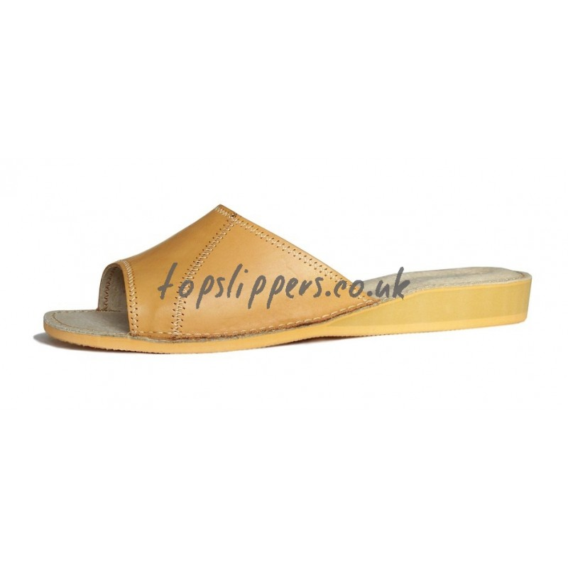 buy peep toe leather house mule for women