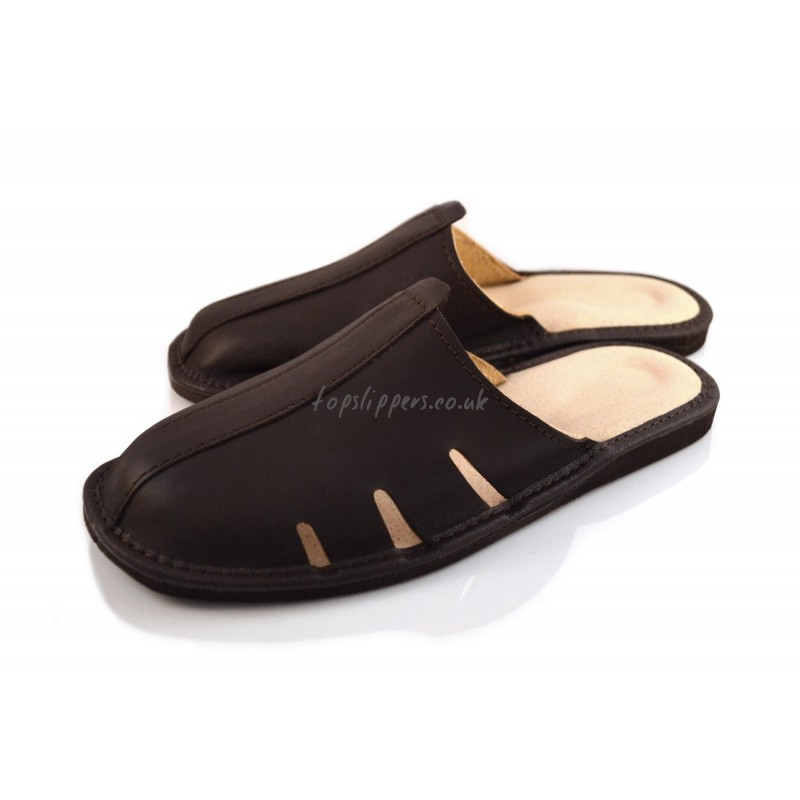 Buy house slippers for men, men's leather mules