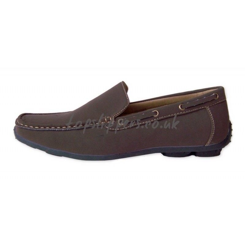 Buy brown classic moccasins house shoes for men SALE - No.350